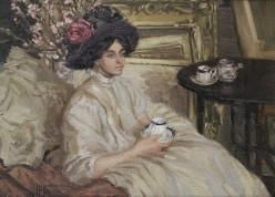 1917, Afternoon Tea, by Hilda Fearon (1878-1917)
