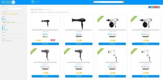 A list of hair dryer deals on BestDeals.Today
