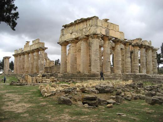 Temple of Zeus in Cyrene