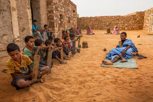 A Quaranic school in Mauritania