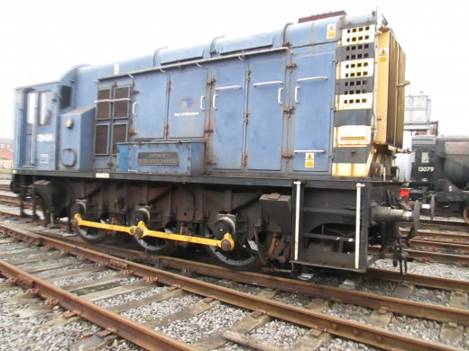 A BR Class 08 0-6-0 shunter (originally from Ipswich Docks) also awaits restoration
