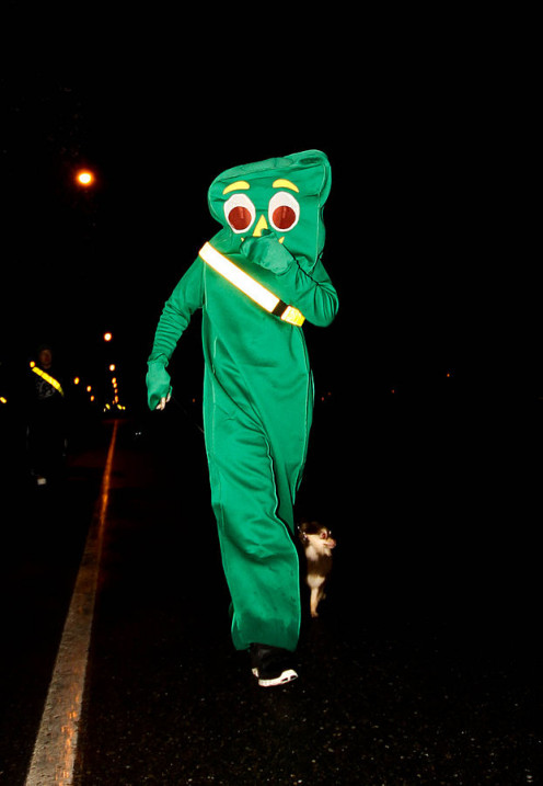 A big, green Gumby would be so fun to see!