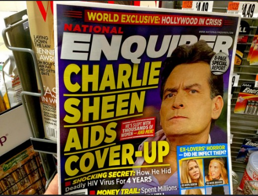 "When Charlie Sheen announced his HIV diagnosis, his father dubbed him ""courageous."" When words are misused like that, we have a problem in the culture."
