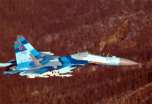 Russian Jet In Flight.