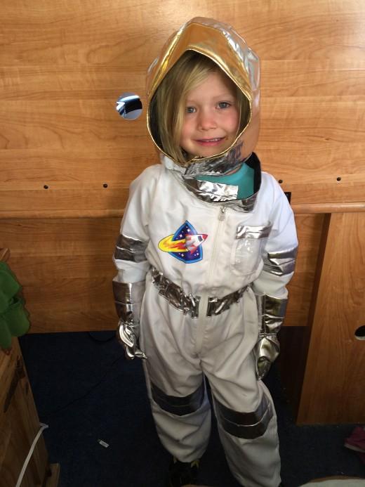 Hannah as an Astronaut...