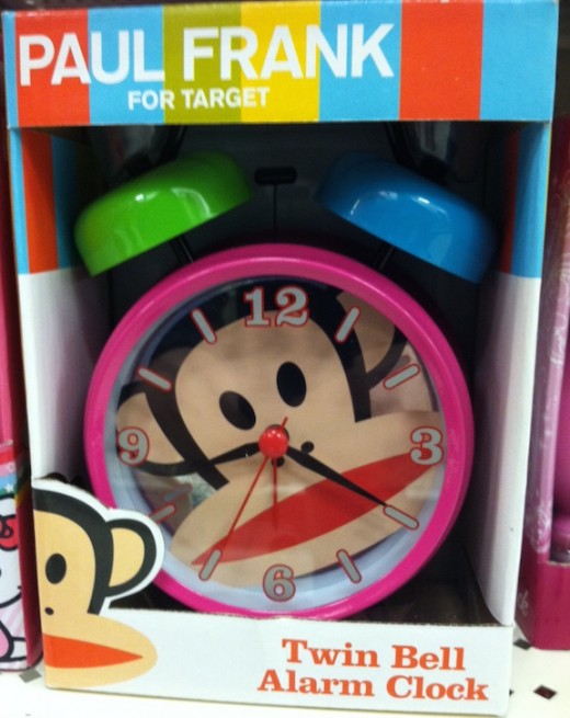 You can find really cute alarm clocks for kids.  They come in all different characters, colors, sizes, and designs.
