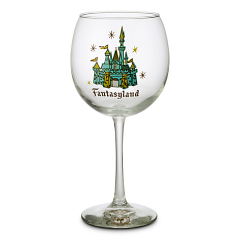 Fantasyland Wine Glass from Disneyland (can be purchased online)