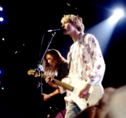 Nirvana, performing live in 1992.