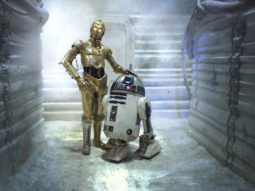 Star Wars C-3PO and R2-D2 robots
