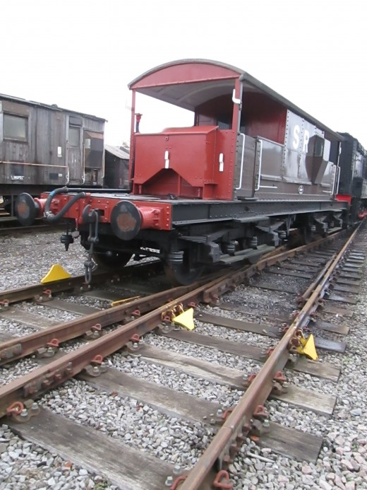 Southern Railway, subsequently BR Southern Region, introduced these bogie brake vans known as 'Queen Mary Brakevans' (on account of their length maybe) for fast freight working