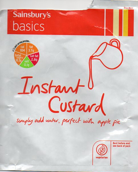 Sainsbury's instant custard