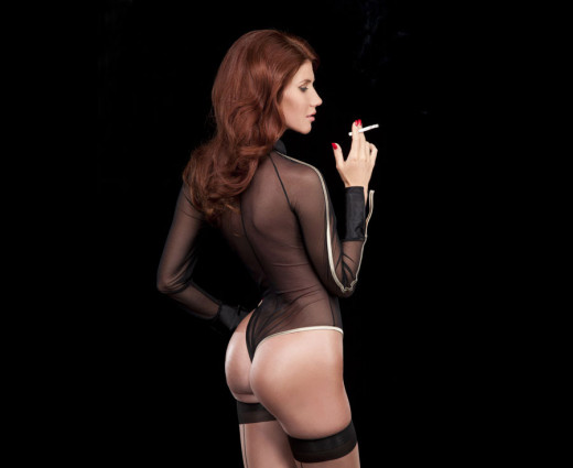Anna Chapman Showing Off Some of the Goods