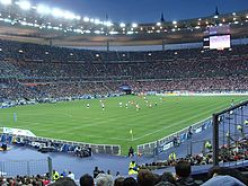 Football - Le Stade de France.  I think professional footballers are overrated and overpaid with overinflated egos!