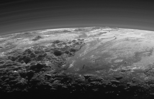 Sunset on Pluto