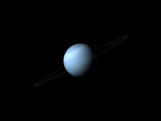 Neptune and it's rings.