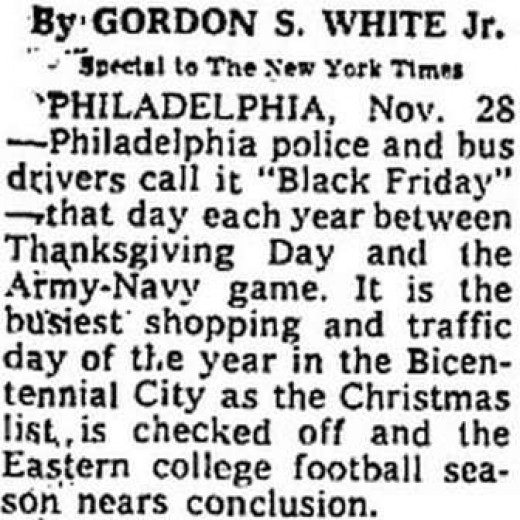 Old newspaper clippings support the true origin of the Black Friday name.