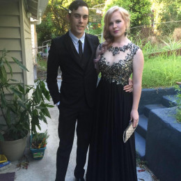 Chloe and her boyfriend Eric, ready for the Graduation Ball.