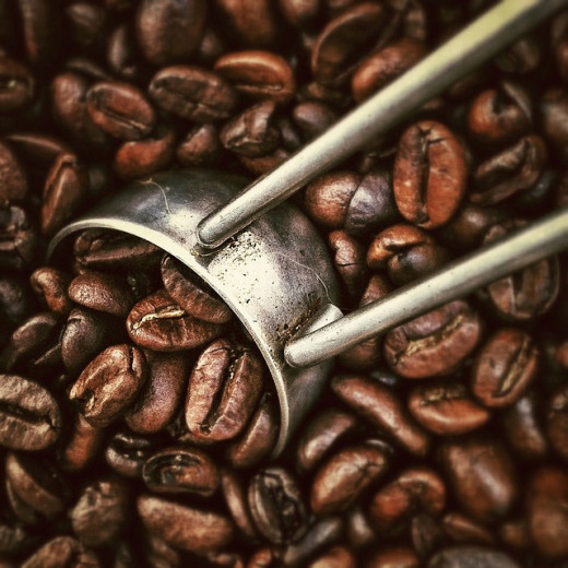 Coffee beans roasted fresh on the premises.