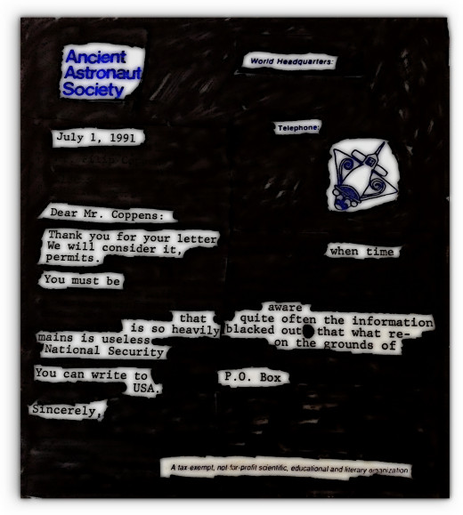 An Experiment with Google and Blackout Poetry Channelling Philip Coppens