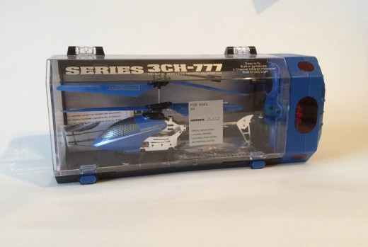 The Series 3CH-777 is a typical toy helicopter in the $20 range. Similar models have been sold in supermarkets and at CVS.