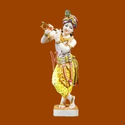 Lord Krishna,the gold chain hanging down the flute