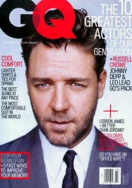Russell Crowe GQ Magazine