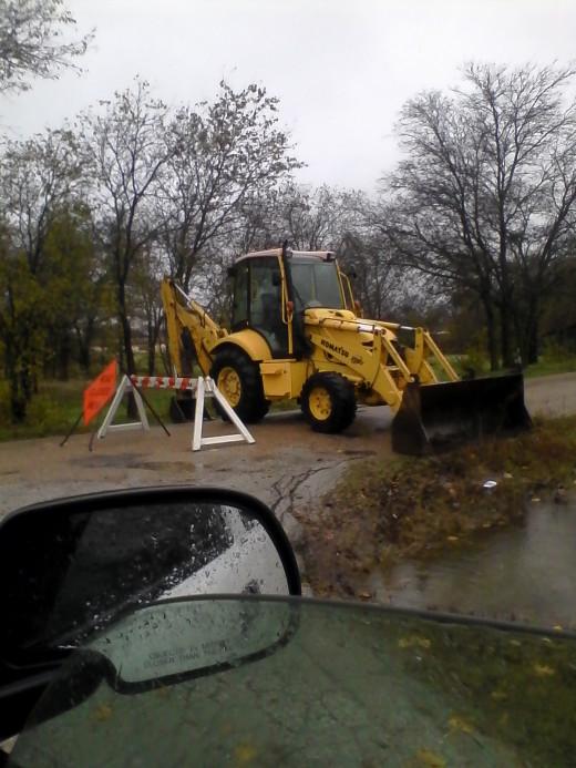 Road closings in my neighborhood.