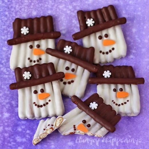 I love snowmen and edible ones just happen to be my very favorite!