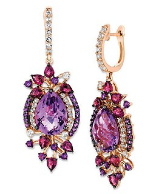 Le Vian® Crazies Collection® Multistone Drop Earrings in 14k Strawberry Rose Gold