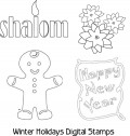 Digital Stamps Clip Art - DigiStamps for Designers and Paper Crafters