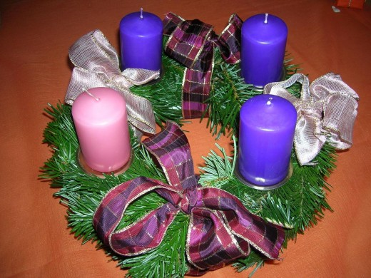 We light the candle(s) on the Advent ring at dinner each night.