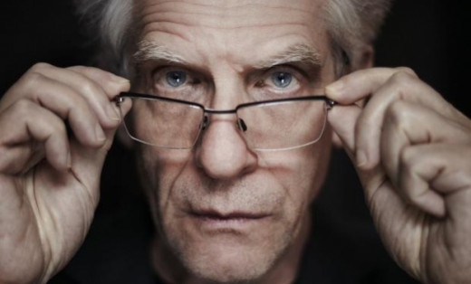 Director David Cronenberg also pops up in a rare acting role