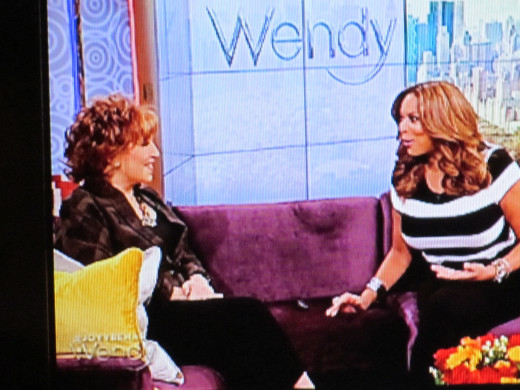 Wendy with various celebrities such as Joy, of the View television show.