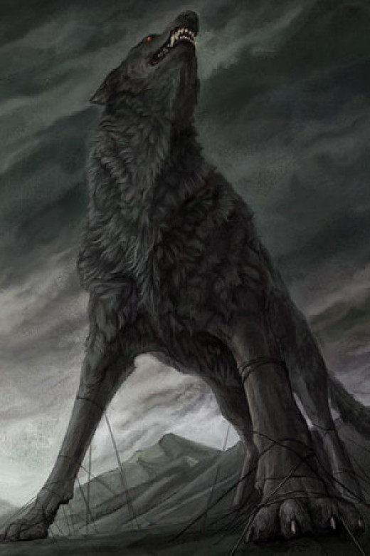 Fenrir the wolf has broken free from his chains... His duty is to his father, Loki