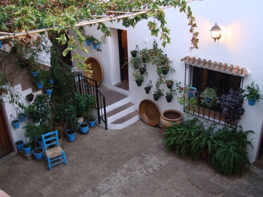 Inside patio at the house museum of Mijas.  This is how traditional Mijas houses look like.