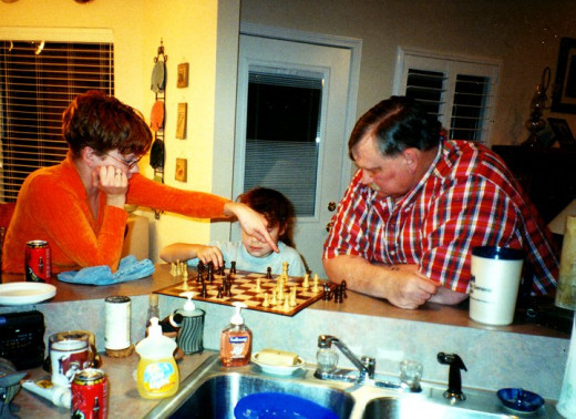 teaching Olivia chess
