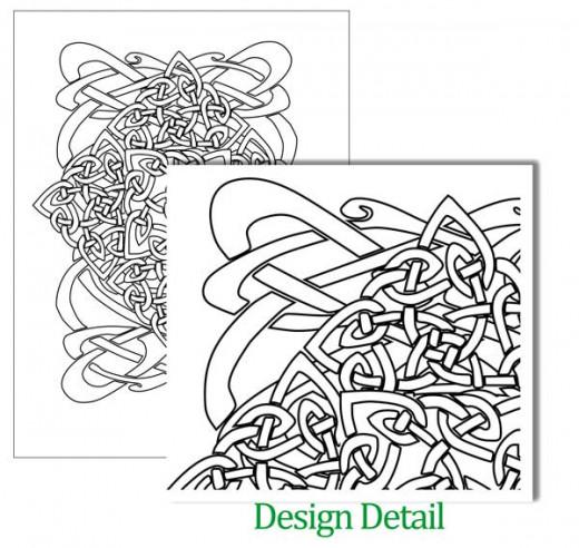 Celtic Knot Design Coloring Sheet