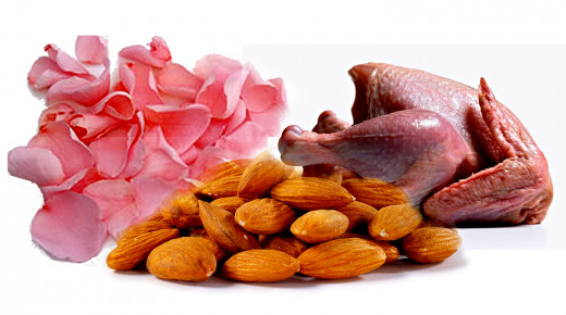 Almonds and rose chicken