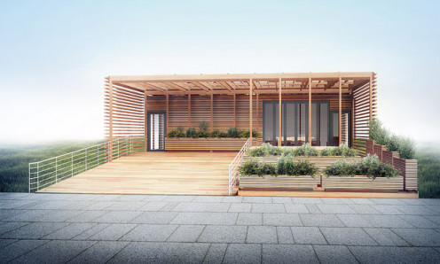 Yale Solar Decathlon 2015 House entry by one of the scientific residential colleges.