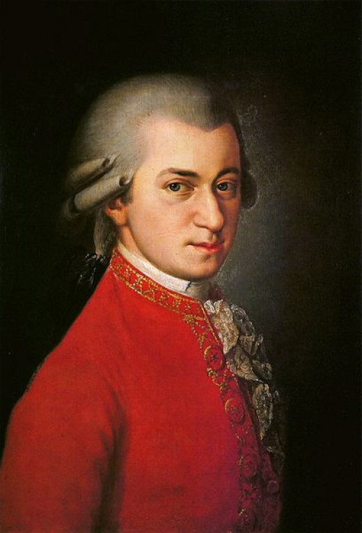 Posthumous painting of Mozart by Barbara Kraft
