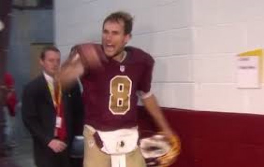 """Redskins QB Kirk Cousins. """"Are you not entertained?"""""""