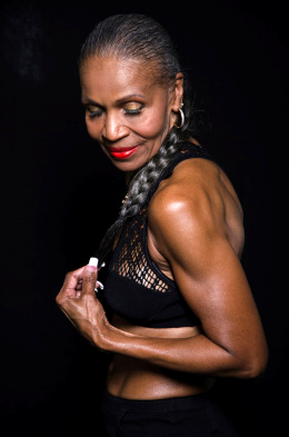 Ernestine Shepard. Professional body builder and a woman who is very, very sexy.