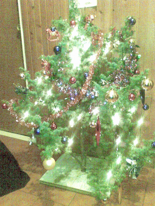 A small tree decorated at home