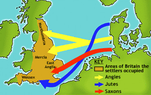 Across the North Sea came first the Jutes in the mid-5th Century, then around the same era the Angles and Saxons