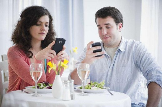 Mobile phones contribute to the inability to listen to people around us, because we prefer connecting to faceless online friends.