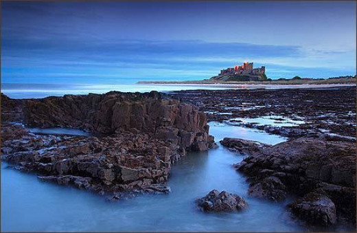 Bamburgh - this is the Norman stronghold built on the site of Ida's - known as Baebbanburh after Aethelfrith married his second wife, the Pictish princess Baebba