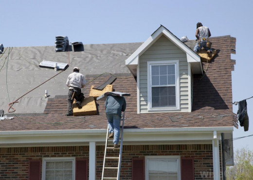Installing a new roof on a steep slope takes a little more time to do