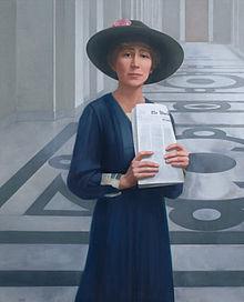 Jeannette Rankin 1880-1973 (portrait by Sharon Sprung)