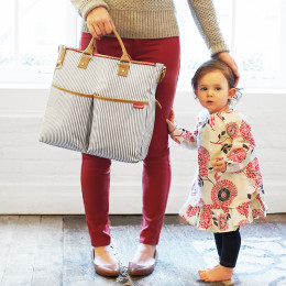Skip Hop Duo Special Edition Diaper Bag in French Stripe