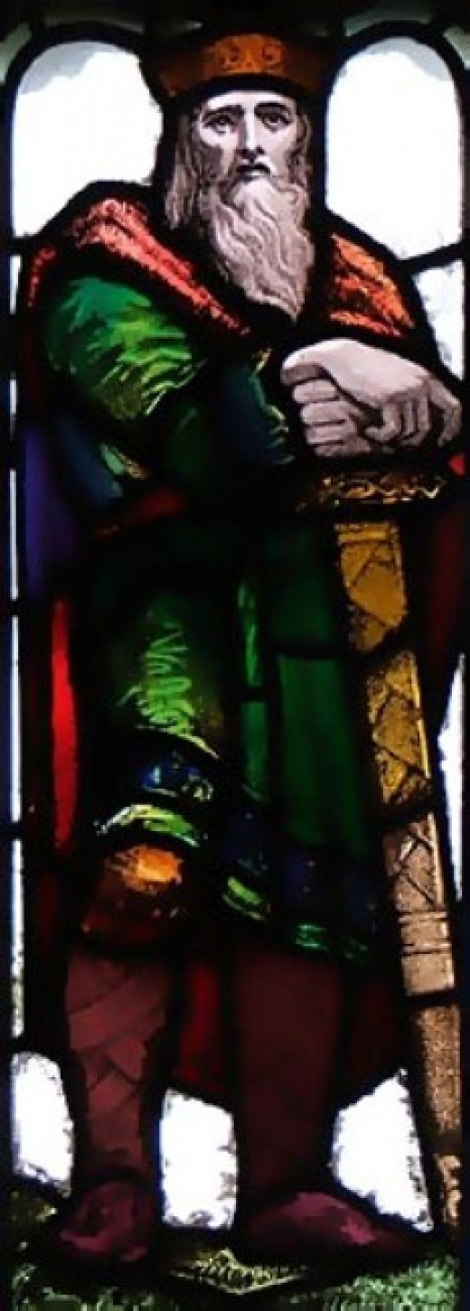 King Oswy shown in later years in stained glass